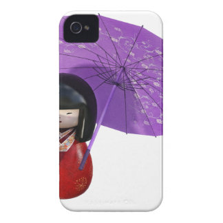 Sakura Doll with Umbrella iPhone 4 Cover