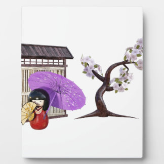 Sakura Doll with Wall and Cherry Tree Plaque