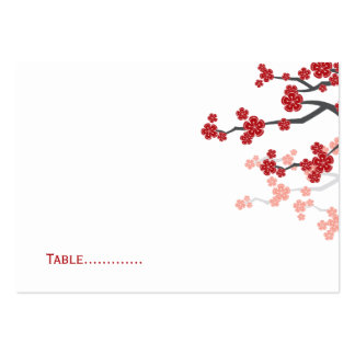 Sakura Double Happiness Chinese Wedding Place Card