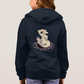 Sakura Dragon Girl's Zip Up Hoodie