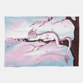 Sakura Dragon Hand Towels