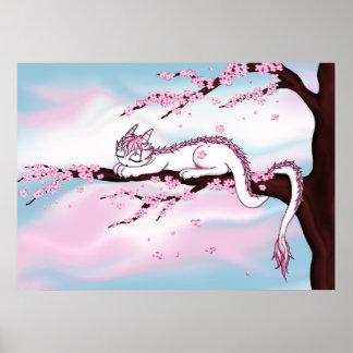 Sakura Dragon Poster