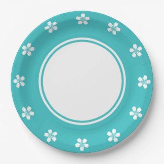 Sakura encantador en la placa de papel de la platos de papel
