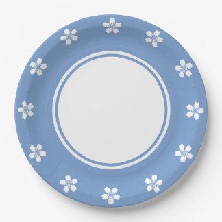 Sakura encantador en la placa de papel del bígaro platos de papel