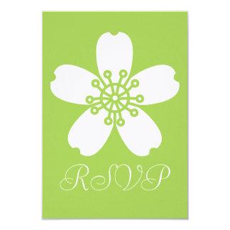 Sakura encantador en la tarjeta de RSVP del Invitación 8,9 X 12,7 Cm