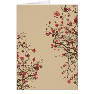Sakura - flor de cerezo felicitacion