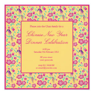 sakura floral batik chinese new year invitation 2
