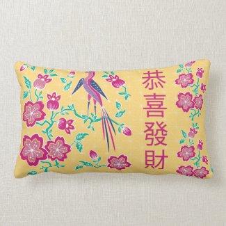 Sakura Floral Batik Chinese New Year Pillow 2