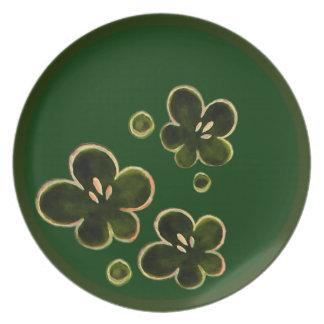 sakura flower ring party plates