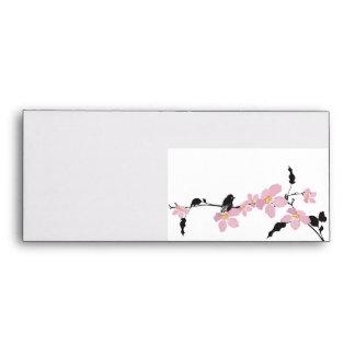 Sakura flowers and birds Envelope