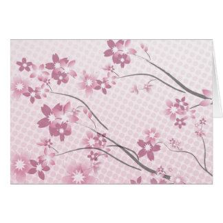 Sakura Flowers Card