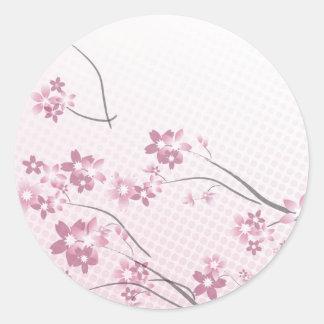 Sakura Flowers Classic Round Sticker