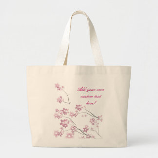 Sakura Flowers Large Tote Bag