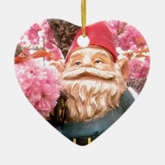 Sakura Gerome Double-Sided Heart Ceramic Christmas Ornament