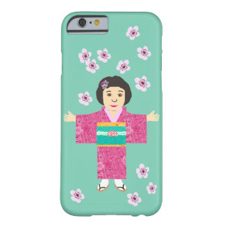 Sakura girl from Japan Barely There iPhone 6 Case