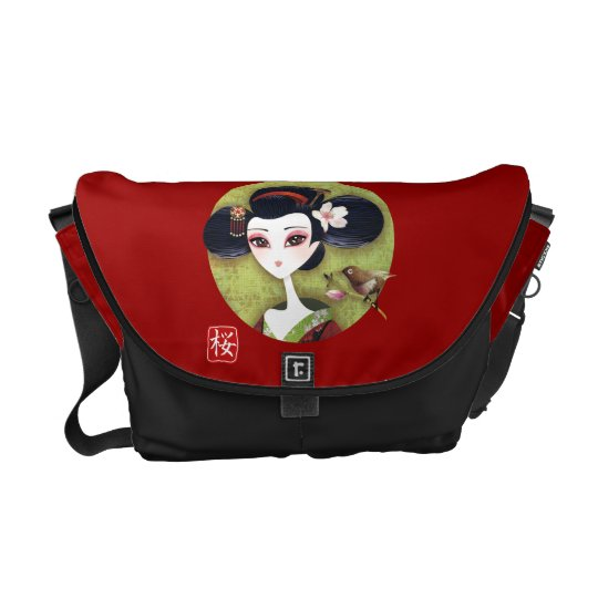 Sakura Girl Messenger Bag