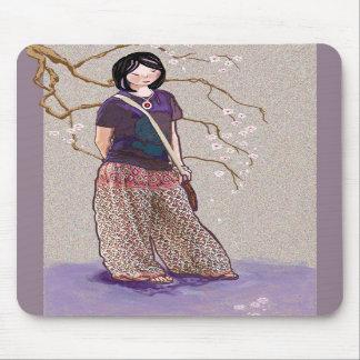 Sakura girl mouse mat