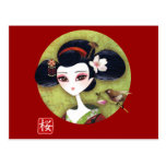 Sakura Girl Postcard