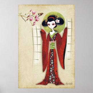 Sakura Girl Print