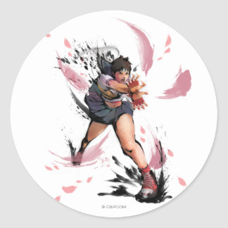 Sakura Hadoken Classic Round Sticker