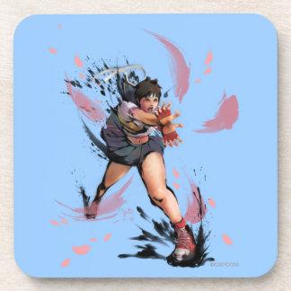 Sakura Hadoken Drink Coaster