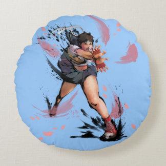 Sakura Hadoken Round Pillow
