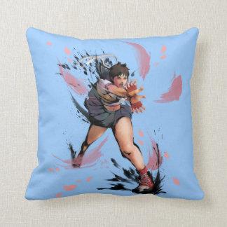 Sakura Hadoken Throw Pillow