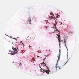 Sakura II Classic Round Sticker