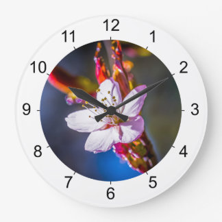 Sakura - Japanese cherry flower Large Clock