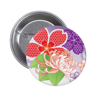 Sakura Kiomono - Japanese Design Pinback Button