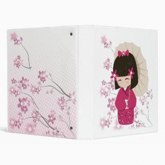 Sakura Kokeshi Doll Binder