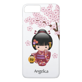 Sakura Kokeshi Doll - Cute Japanese Geisha Girl iPhone 8 Plus/7 Plus Case