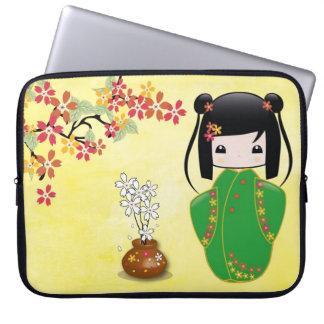 Sakura Kokeshi Doll, Laptop Sleeves