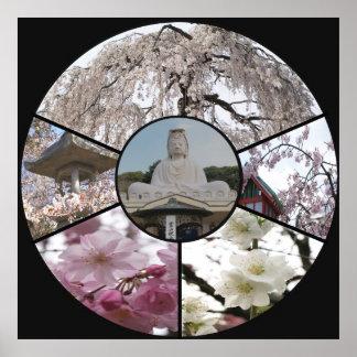 Sakura Meditation_ by Adela Stefanov Affiches