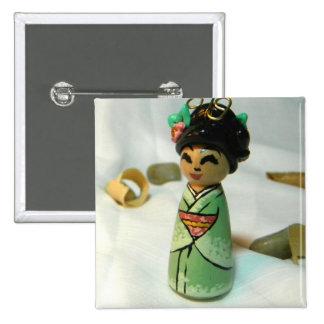 Sakura Mint II Pinback Button