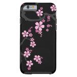 Sakura negro - caso del iPhone 6 del diseño del Funda De iPhone 6 Tough