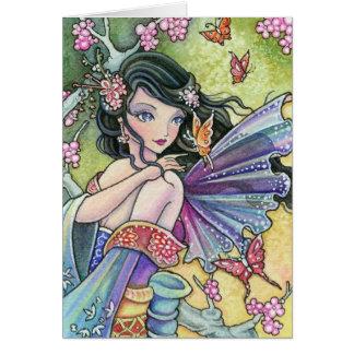Sakura Night - blank card