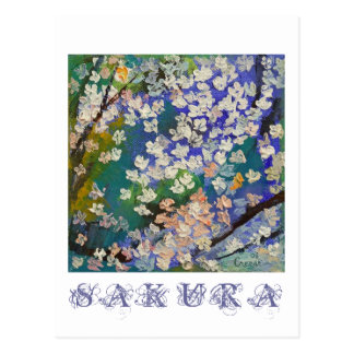 Sakura Oil Painting Postcard