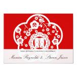 Sakura oriental que casa invitatio doble de la invitación 12,7 x 17,8 cm