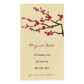 Sakura Oriental  Zen Cherry Blossoms Profile Cards Business Card