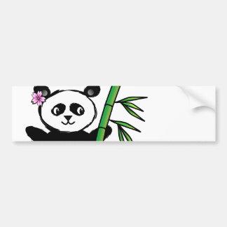 Sakura Panda Car Bumper Sticker