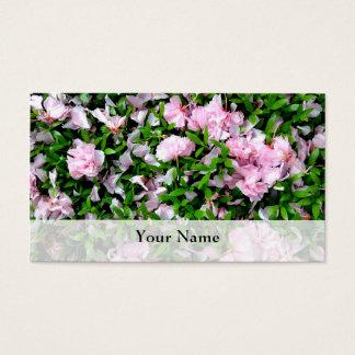 sakura petals business card