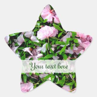sakura petals star sticker