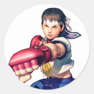 Sakura Punching Classic Round Sticker
