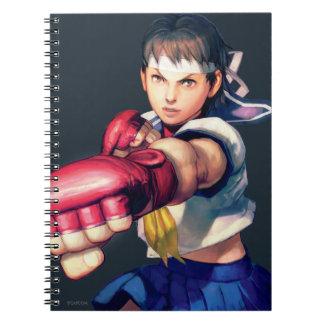 Sakura Punching Spiral Notebook