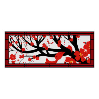 Sakura rojo poster