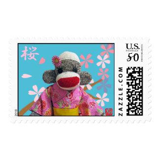Sakura Sock Monkey Stamp