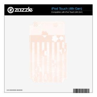 Sakura Stripes iPod Touch 4G Skin