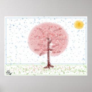 Sakura Tree Poster