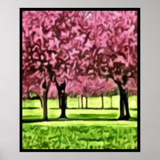 Sakura Trees Poster